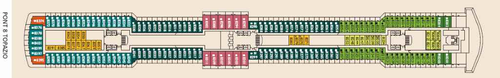 Costa deliziosa cabine foto ponti prezzi crociera 2019 for Costa deliziosa ponti