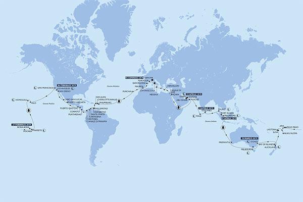 Giro del Mondo in crociera: con MSC MAGNIFICA